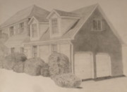 Bricks Drawings - Shes a Brick House by Meg Goff