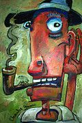 Caricature Painting Originals - Shhhhhhhh by Charlie Spear