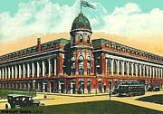 Shibe Park Baseball Stadium In Philadelphia Pa Print by Dwight Goss