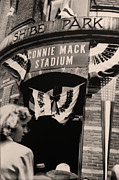 Phillies Acrylic Prints - Shibe Park - Connie Mack Stadium Acrylic Print by Bill Cannon
