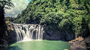 Y120831 Art - Shifen Waterfall by Cjfan