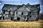 Abandoned Houses Photo Metal Prints - Shift of Time Metal Print by Emily Stauring