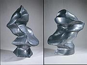 Abstract Ceramics Originals - SHIFT two views by Jason Messinger