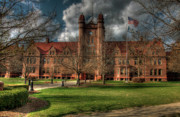 Red Roof Prints - Shilling Hall Millikin University Print by Ann Higgens