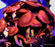 Shimmering Shrooms Print by DigiArt Diaries by Vicky B Fuller