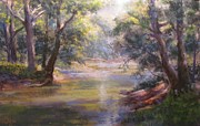Stream Pastels Originals - Shimmering Stream by Bill Puglisi