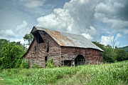 Tin Roof Prints - Shingle Barn 1 Print by Douglas Barnett