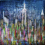 Chrysler Building Mixed Media - Shining Bright by Sebastian MacLaughlin