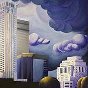 Skyscrapers. Painting Posters - Shining Poster by Duane Gordon
