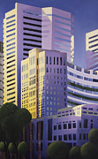 L Montreal Paintings - Shining Towers by Duane Gordon
