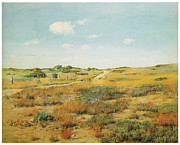 Fine American Art Posters - Shinnecock Hills Poster by William Merritt Chase