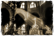 Notre Dame Cathedral Prints - Shinning Through Print by Mike McGlothlen