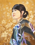 Kimono Posters - Shiori Poster by Bob Duncan