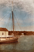 Docked Boat Prints - Ship at Dock Print by Jill Battaglia