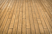 Wood Plank Flooring Prints - Ship Deck Print by Brandon Bourdages