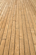 Wood Plank Flooring Prints - Ship Deck used for Background Print by Brandon Bourdages