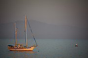 Yacht Photos - Ship In Warm Light by Ralf Kaiser