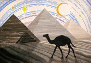 Camel Drawings - Ship Of The Desert by Mike Paget
