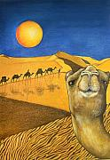 Camel Prints - Ship of the Desert Print by Robert Lacy