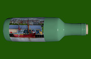 Steve Purnell - Ship on a Bottle with Green