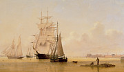 Calm Paintings - Ship Painting by WF Settle