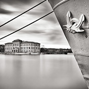 Stockholm Prints - Ship With Anchor In Harbor Print by Peter Levi