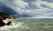 Cliffs Paintings - Shipping in Open Seas by David James