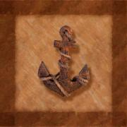 Earth Tones Posters - Ships Anchor Poster by Tom Mc Nemar