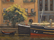 Berlin Painting Originals - ships in Berlin by Nikolai Kraneis
