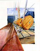 Ropes Painting Framed Prints - Ships Tackle Royal Clipper Framed Print by John D Benson