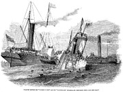 Duchess Framed Prints - Shipwreck: Collision 1852 Framed Print by Granger