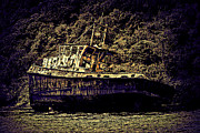Artistic Landscape Photos Photos - Shipwreck by Tom Prendergast