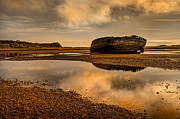 Old Shipwreck Photos - Shipwrecked Boat by Mal Bray