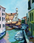 Impressionist Mixed Media - Shipyard in Venice by Filip Mihail