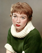 1950s Portraits Metal Prints - Shirley Maclaine, Late 1950s Metal Print by Everett