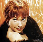 Bare Shoulder Metal Prints - Shirley Maclaine, No Date Metal Print by Everett
