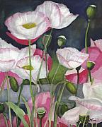 Shirley Mixed Media - Shirley Poppies Galore by Lori  Presthus