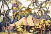 Hawaiian Vintage Art Paintings - Shirley Russell Art by Hawaiian Legacy Archive - Printscapes