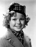 Plaid Scarf Framed Prints - Shirley Temple, 1935 Framed Print by Everett