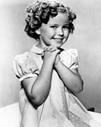 Colbw Framed Prints - Shirley Temple, 1936 Framed Print by Everett