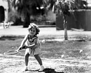 Tennis Ball Photos - Shirley Temple, American Actress by Everett
