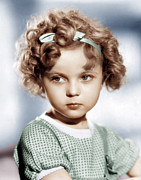 Temple Photo Posters - Shirley Temple, Ca. 1934 Poster by Everett