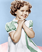 Clasped Framed Prints - Shirley Temple, Ca. 1936 Framed Print by Everett