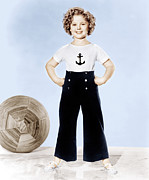 White T-shirt Photos - Shirley Temple, Studio Portrait, Ca by Everett