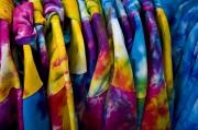 Rehoboth Beach Prints - Shirts With Bright Tie-dye Colors Await Print by Stephen St. John