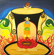 Chakra Paintings - Shiv -ajna by Varsha Vaish