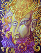 Egg Tempera Prints - Shiva Print by Evelyn Cammarano