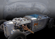 1927 Ford Roadster Photos - Shock Therapy by Bill Dutting