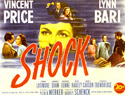 Shock Framed Prints - Shock, Vincent Price, Lynn Bari, Anabel Framed Print by Everett