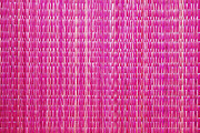 Shocking Pink Woven Raffia Print by Kantilal Patel